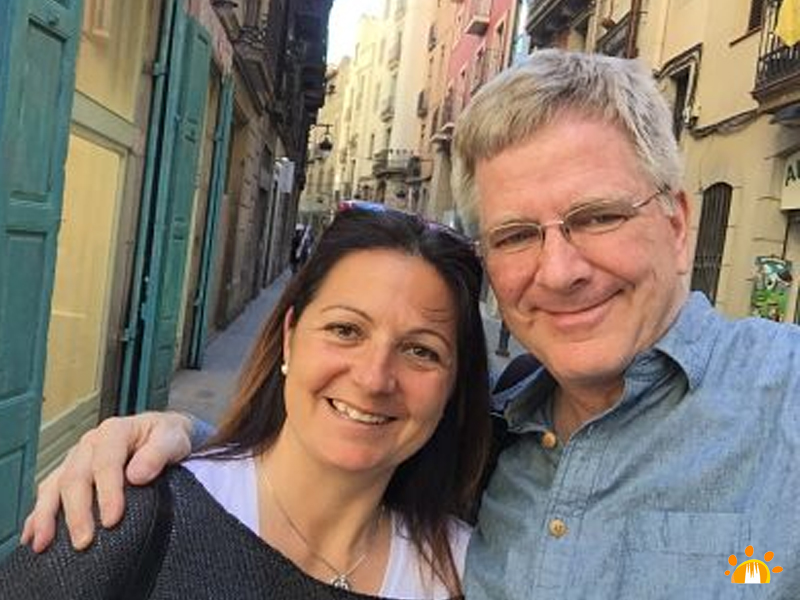 Rick Steves and Cristina Sanjuán